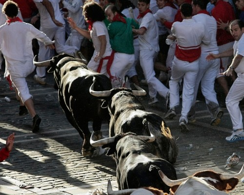 Pamplona'da pis festival: San Fermin
